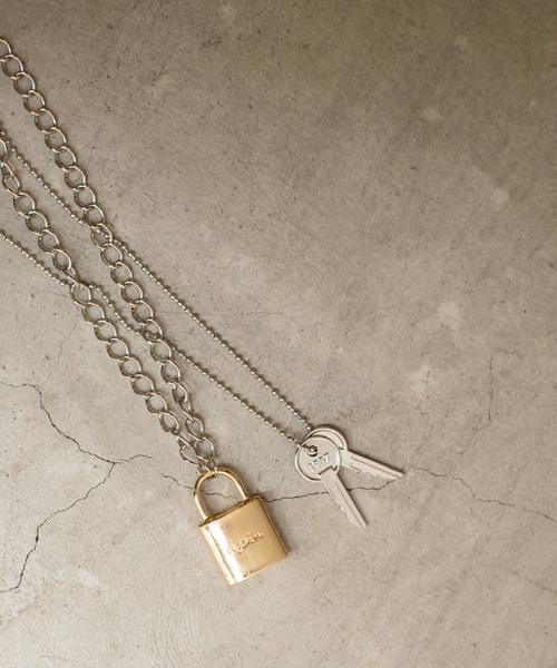 WEGO/Padlock SET Necklace