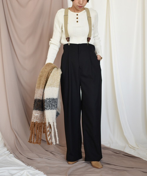 【第1位獲得!】 【Eimee& Law】サスペンダー付きタックパンツ(パンツ) Eimee|Eimee& Law(エイミーロウ)のファッション通販, バッグショップグルーピー:97bc1c14 --- 5613dcaibao.eu.org