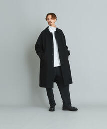<Steven Alan> 100S MELTON BAL COLLAR LONG COAT/コート