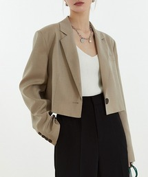 【Fano Studios】【2021SS】1 button short tailored jacket cb-3 FC21W039ライトベージュ