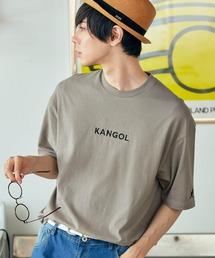 ▽WEB限定 MONO-MART×KANGOL 別注ロゴ刺繍 プリント半袖Tee オーバーサイズカットソーグレー系その他2
