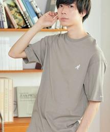 ▽WEB限定 MONO-MART×KANGOL 別注ロゴ刺繍 プリント半袖Tee オーバーサイズカットソーグレー系その他4
