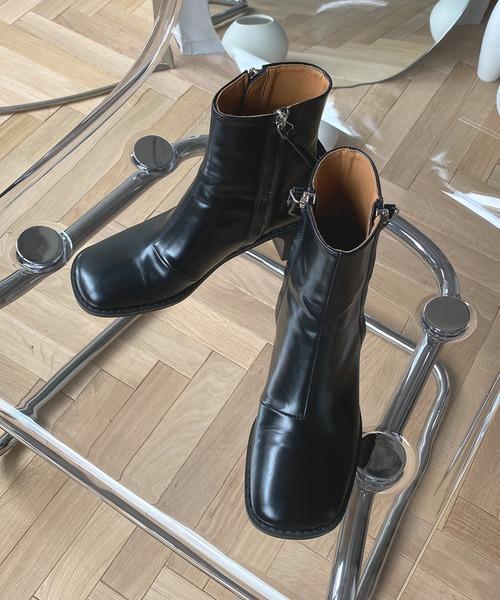 【chuclla】【2020/AW】wzip square toe boots chs86
