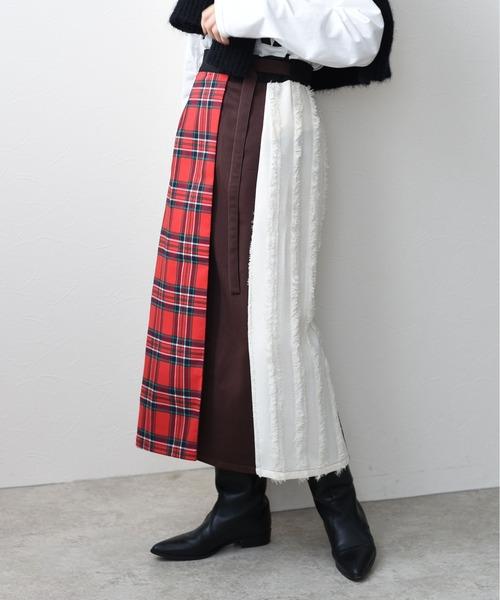 4TEX切替ラップボクシィスカート