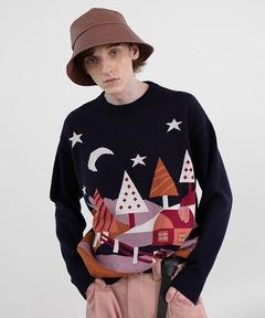 【MIX SEVEN】【2021AW】Comic Pattern Sweater MX21S49