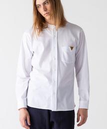 rehacer(レアセル)のOchre  ×INDUSTYLE Band collar shirt(シャツ/ブラウス)