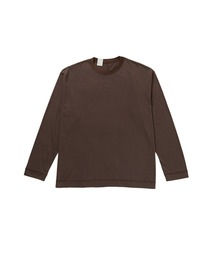 CREW NECK LONG SLEEVEブラウン