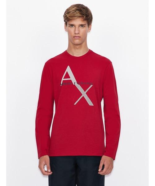 【A|Xアルマーニ エクスチェンジ】AXロゴ 長袖クルーネックTシャツ/REGULAR