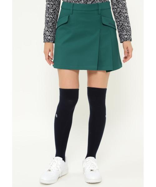 Jack Bunny!!(ジャックバニー)の「【Jack Bunny!!】ストレッチボンディング スカート(スカート)」|グリーン