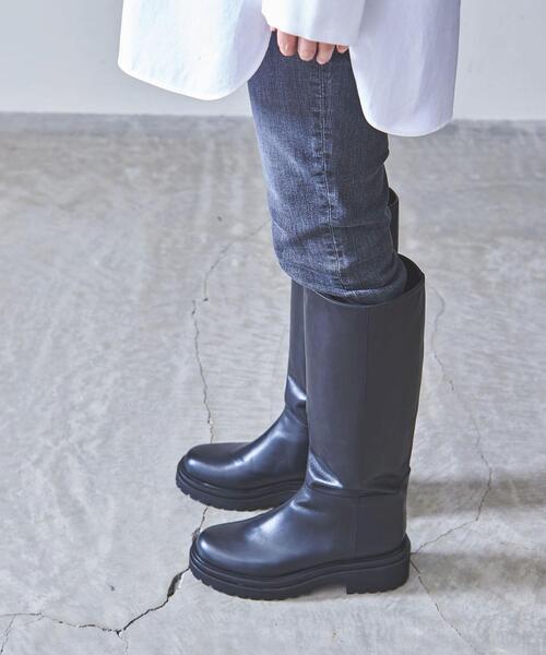 <UNITED ARROWS>ロング プラット ブーツ