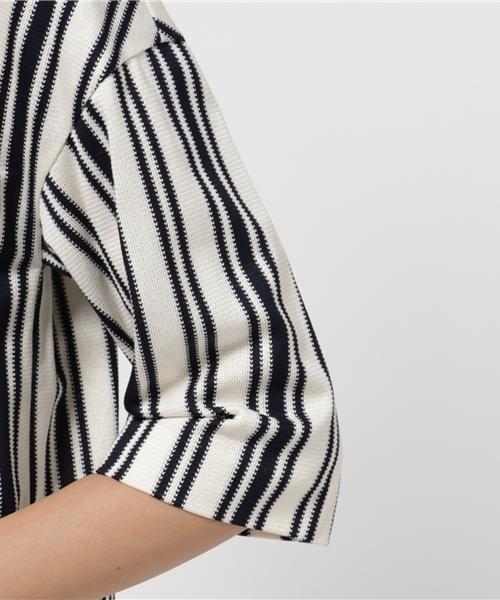Buyer's select Made in Japanコットン100%デザインストライププルオーバー