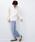 haco!(ハコ)の「<スザンヌさんコラボ>ラブ&ピースプロジェクト ドットチュールキャミワンピース&ボリュームスウェットトップスセット(スウェット)」|詳細画像