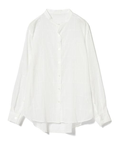 BEAMS LIGHTS / 手洗い可能 ステッチドビー チェック シャツ