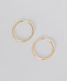 <MARIA BLACK>SUNSET HOOP 35 EARRINGS GOLD PLATED/ピアス.