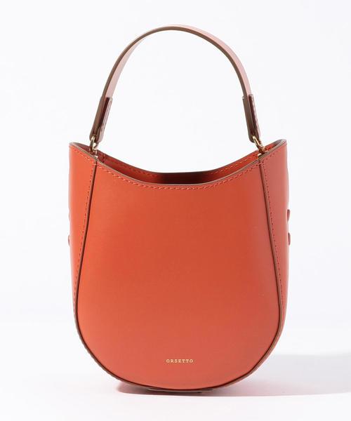 激安店舗 ORSETTO ラウンドハンドバッグ, トミオカシ 972932b1