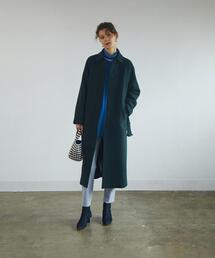 <Steven Alan>MELTON LONG SOUTIEN COLLAR COAT/コート