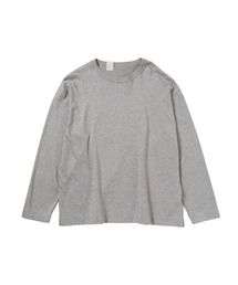 CREW NECK LONG SLEEVEトップグレー