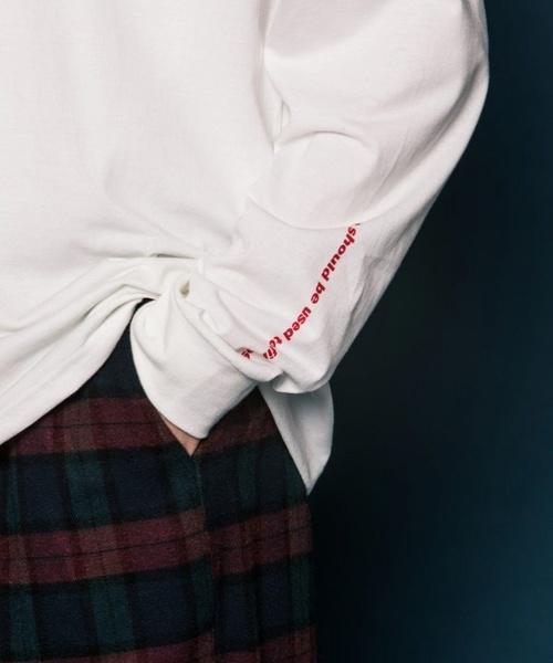 【SLOWACID】ロゴ ロング Tシャツ