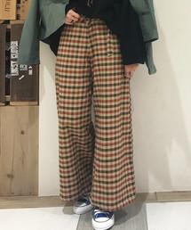 OLD BETTY'S(オールドベティーズ)のCheck Pattern Gaucho Pants/チェック 柄 ガウチョ パンツ(パンツ)
