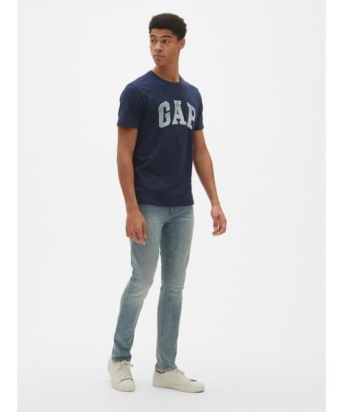 ロゴ半袖クルーネックTシャツ(スラブコットン)