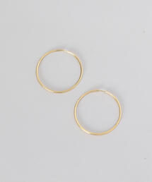 <MARIA BLACK>SUNSET HOOP 50 EARRINGS GOLD PLATED/ピアス.