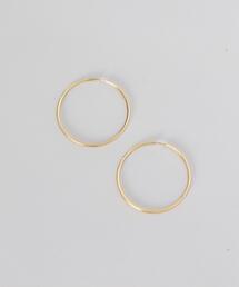 <MARIA BLACK>SUNSET HOOP 50 EARRINGS GOLD PLATED/ピアス.