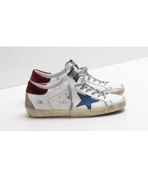GOLDEN GOOSE Super-Star sneakers with velvet heel tab and metal stud lettering