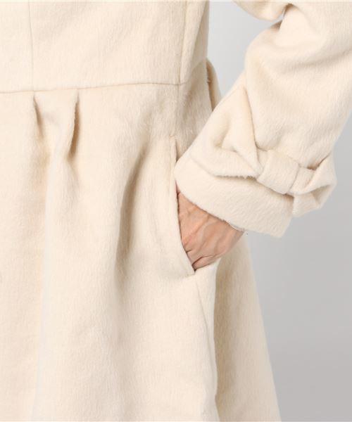 衿ファー付コート