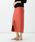 Demi-Luxe BEAMS(デミルクス ビームス)の「Demi-Luxe BEAMS / コットンシルク スリットタイトスカート(スカート)」 テラコッタ