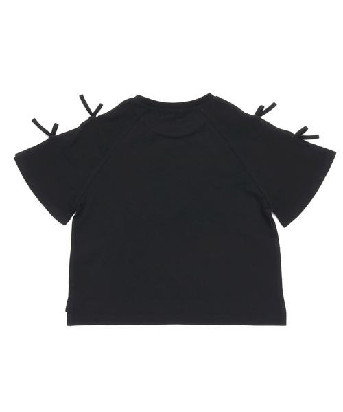 袖リボンTシャツ