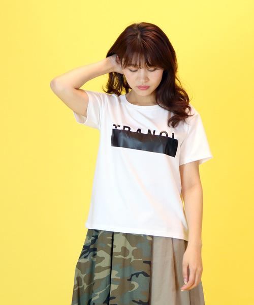 【TRANOI/トラノイ】TRANOI ロゴTシャツ CRU