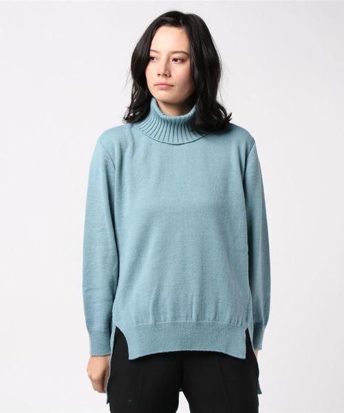 お気にいる 【Mixing blue Mixing】W/AC天竺 オフタートル(ニット/セーター)|Mixing blue(ミキシングブルー)のファッション通販, ヤブキマチ:cee2079a --- pyme.pe
