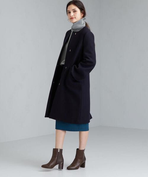 [ FAbRICA ] ◆CS メルトン ノーカラー コート