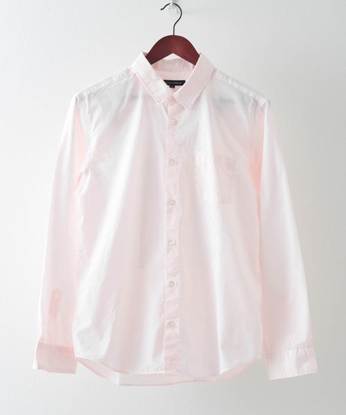 garsonwave(ギャルソンウェーブ)の「【日本製】ブロードナノファイン加工レギュラーカラーシャツ(シャツ/ブラウス)」|ライトピンク