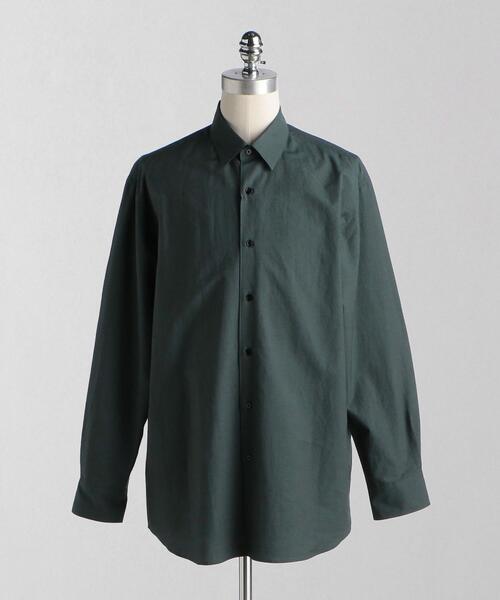 <LOEFF(ロエフ)>コットンシルク ブロード レギュラーカラーシャツ MEN'S
