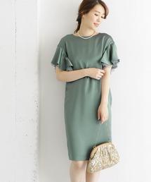 URBAN RESEARCH ROSSO WOMEN(アーバンリサーチ ロッソ)のラッフルスリーブコクーンドレス(ドレス)