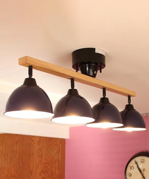 ブリッド ジェンダーウッド·ロット 4灯 シーリングランプ リモコン付 照明 / BRID GENDER WOOD ROD 4CEILING LAMP (電球あり)
