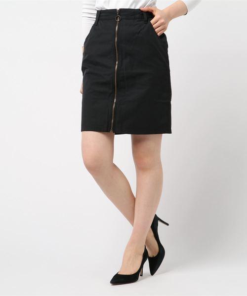 品質満点! HYSTERICフロントZIPニースカート(スカート) HYSTERIC GLAMOUR(ヒステリックグラマー)のファッション通販, 信州の特産品まるたか:d903c3fc --- pyme.pe
