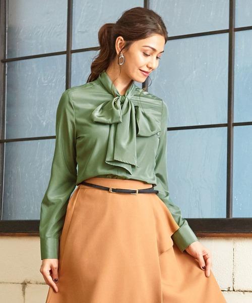 値引 ファインラスターサテンボウタイ長袖ブラウス(シャツ/ブラウス)|NARACAMICIE(ナラカミーチェ)のファッション通販, 素敵な:45c7d33e --- blog.buypower.ng