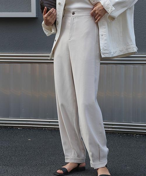 【cuhclla】High-waist tuck pants sb-4 chw1043