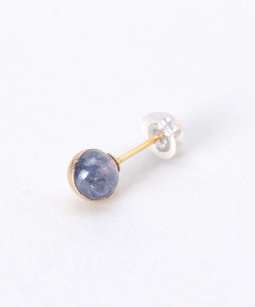 <Preek>BLUE ZOISITE EARRING PIN K18/ ピアス¨