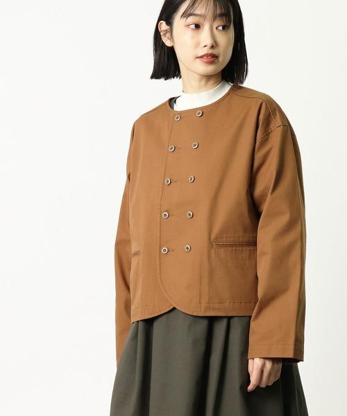 【 GRANDMA MAMA DAUGHTER / グランマ ママ ドーター 】 チノノーカラーWジャケット GJ932161 KTI・・