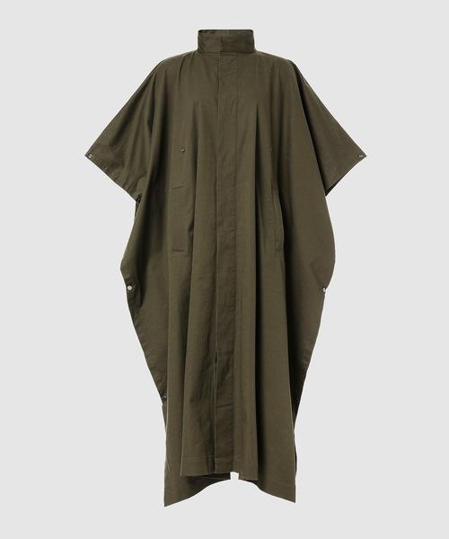 Stand collar caftan coat