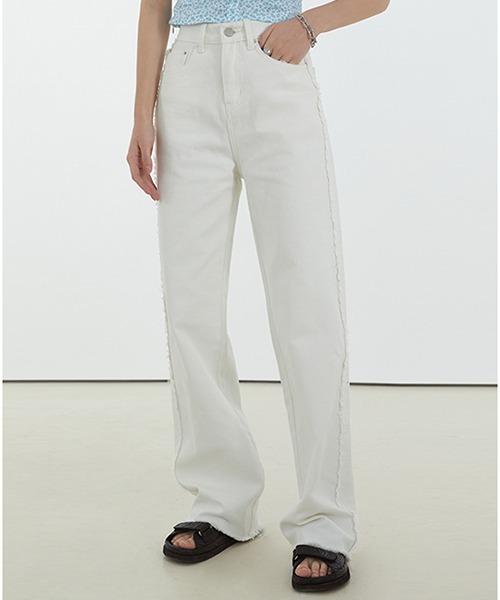 【Fano Studios】【2021SS】Side fringe wide straight denim pants FC21K039