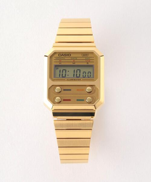 <CASIO(カシオ)> FRONTBUTTON A100 3/腕時計