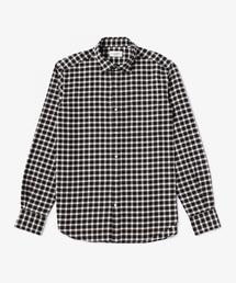 UASB フランネル チェック スモールワイドカラーシャツ ◆