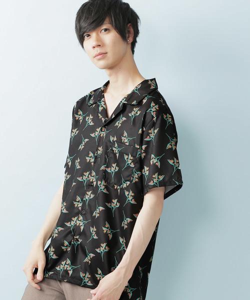 フラワーパターンサマーシャツ(1/2 sleeve)