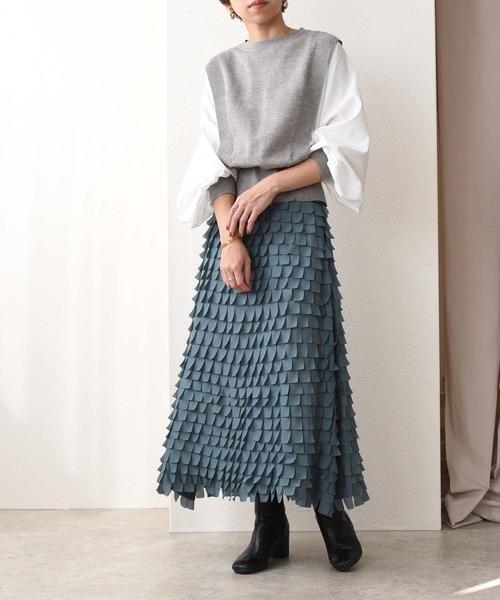 レザーカットマーメイドスカート