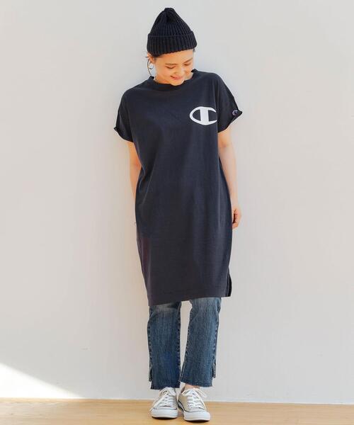 [ 別注 チャンピオン ]★★SC Champion × GLR コットン ワンピース