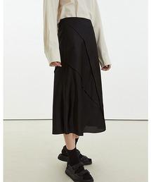 【Fano Studios】【2021SS】High waist drape semi-long skirt FC21B021ブラック